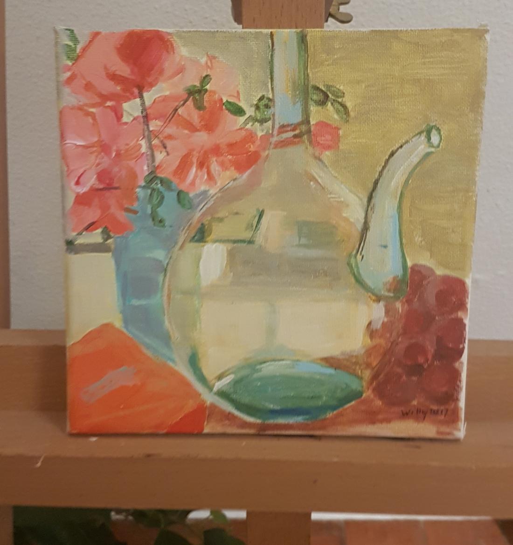 Bloemen en glas